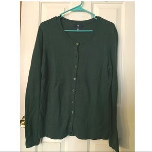 GAP Forest Green Button-Up Cardigan